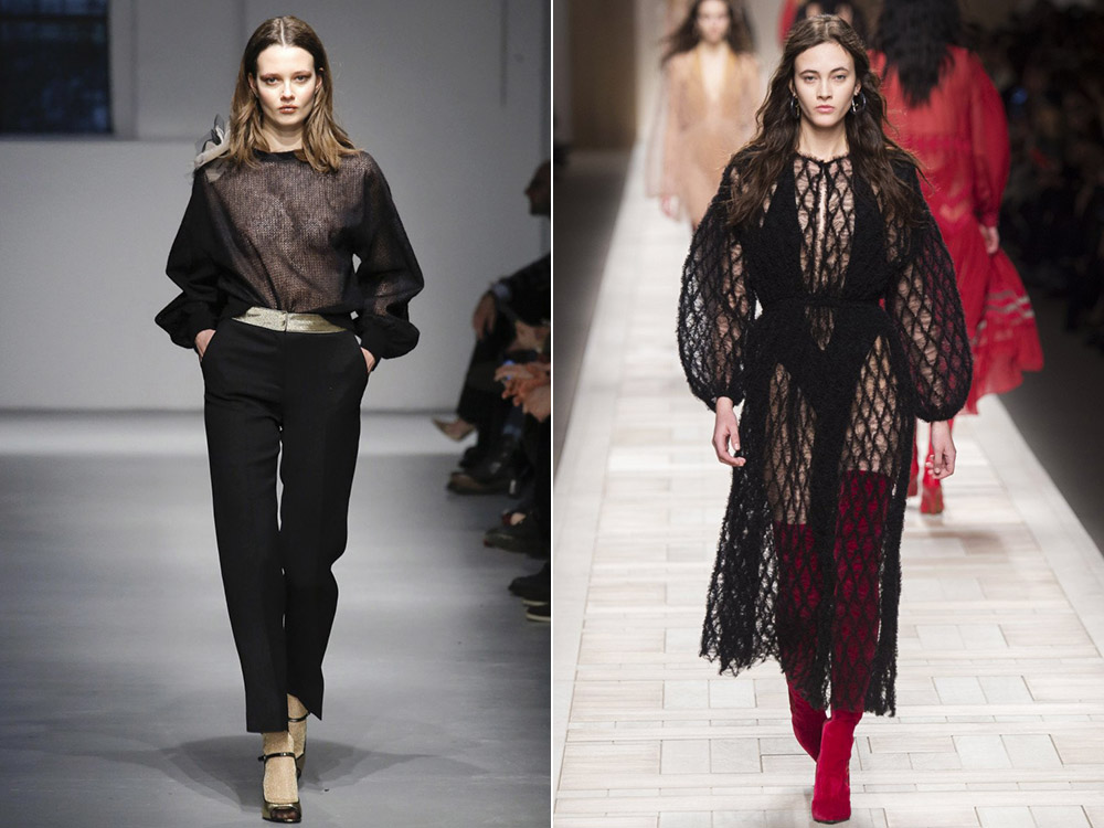 Прозрачная вязаная одежда осень-зима 2019-2020