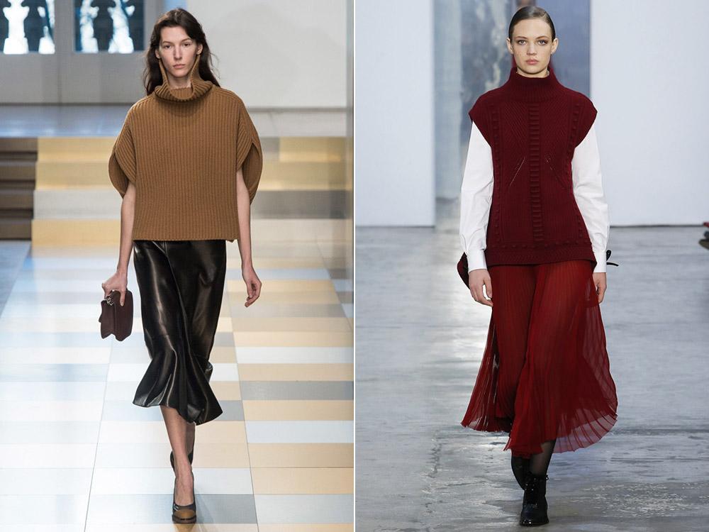 Вязаная одежда без рукавов осень-зима 2019-2020