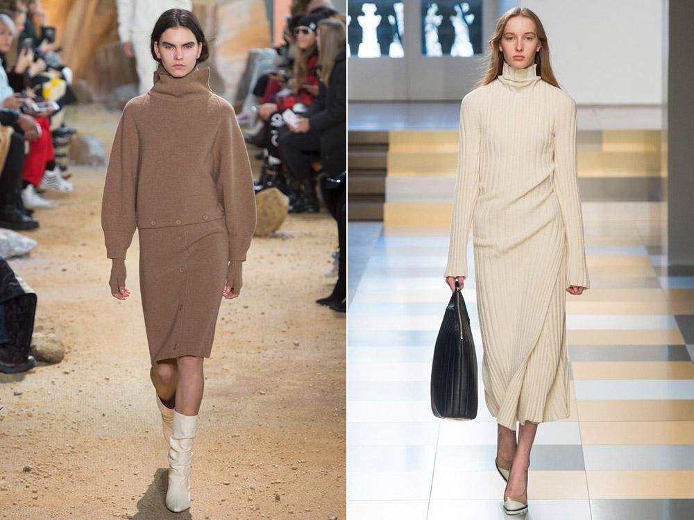 Вязаное платье осень-зима 2017-2018