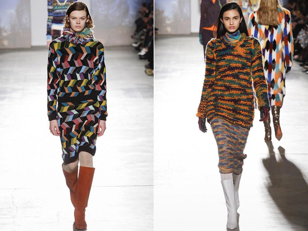 Вязаные юбки на осень-зима 2017