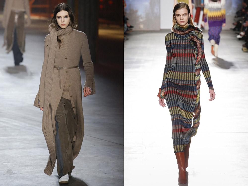 модная вязаная одежда осень зима 2019 2020 тенденции фото