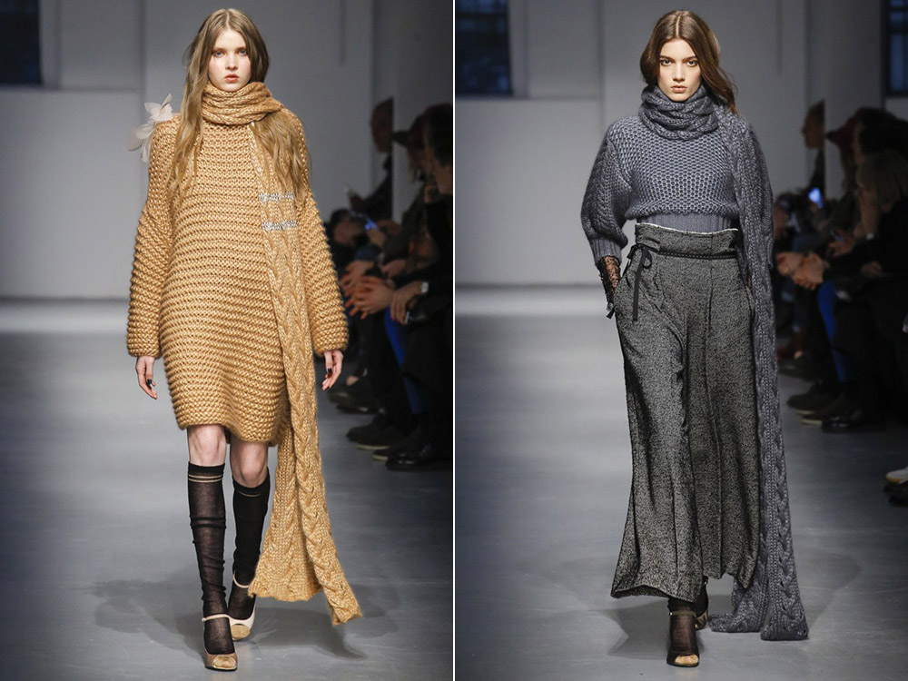 Вязаные вещи с шарфом осень-зима 2019-2020