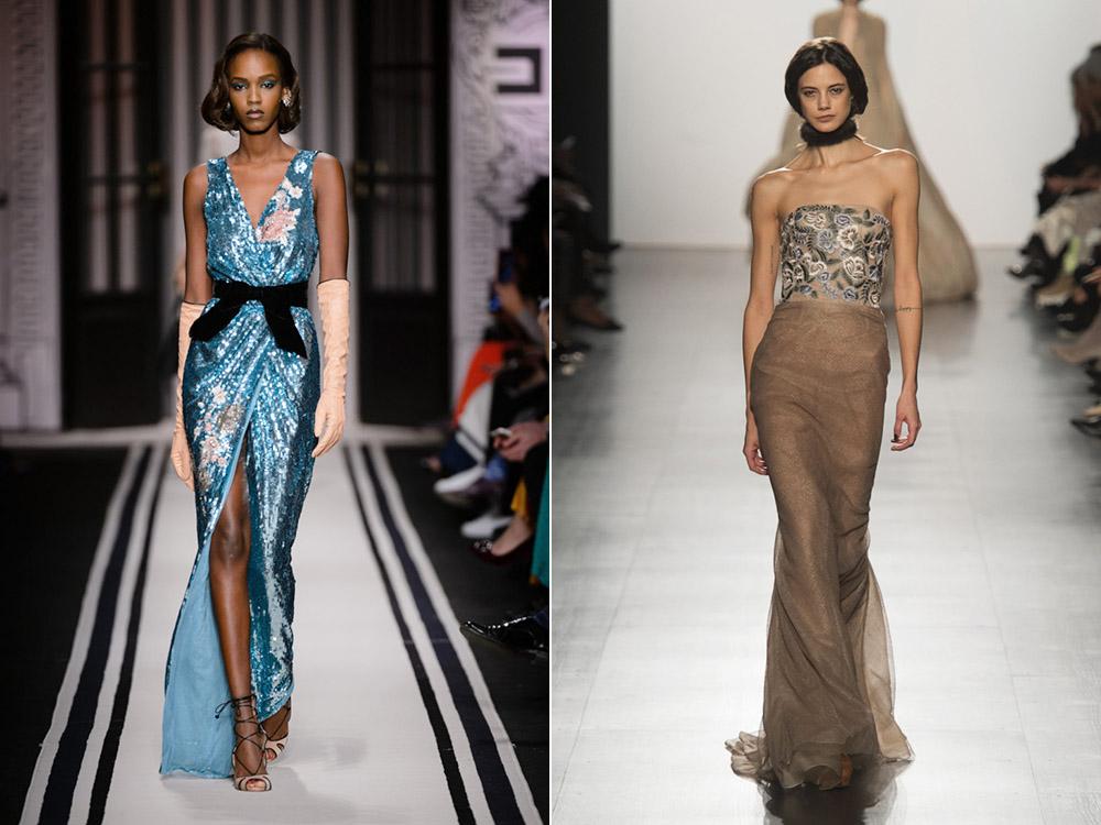 5b6dd21cd17 Длинные платья с декором на Новый год 2020