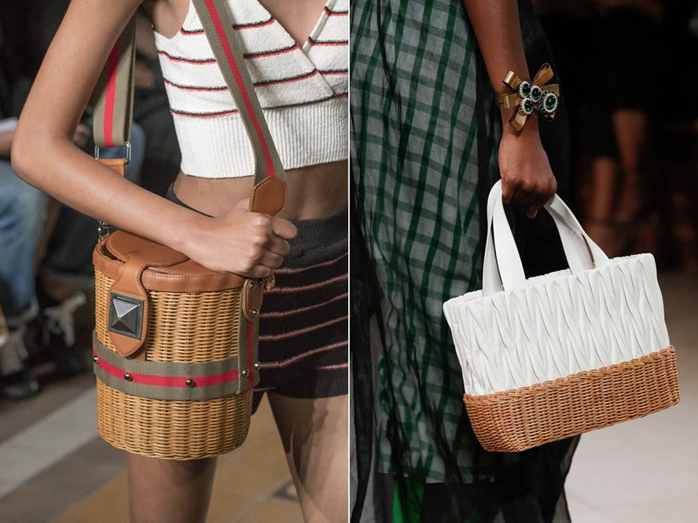 Плетеные сумки весна-лето 2018
