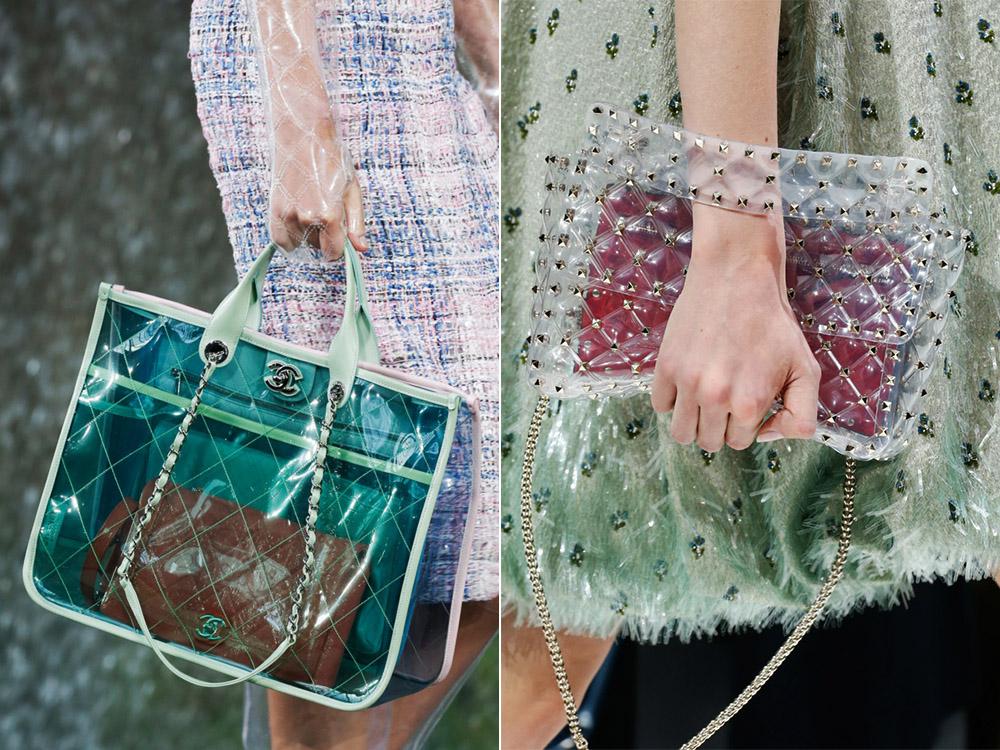 Прозрачная сумка весна-лето 2018