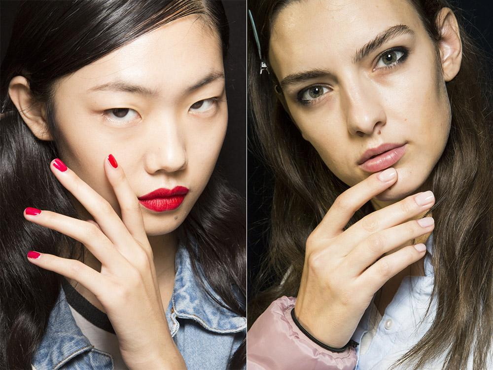 Дизайн ногтей гель-лаком под макияж