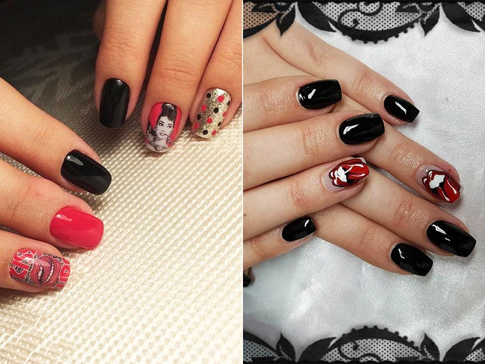 Дизайн ногтей поп-арт гель-лаком
