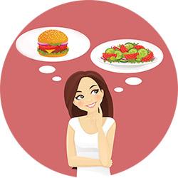 Сбалансированное питание против седых волос
