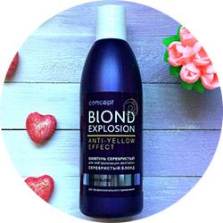 Тонирующий шампунь Blond Explosion против желтизны волос