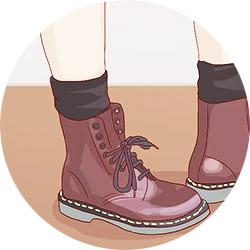 Растяжка обуви из кожзама носком