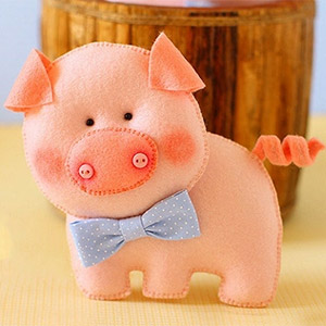 Свинка из фетра своими руками