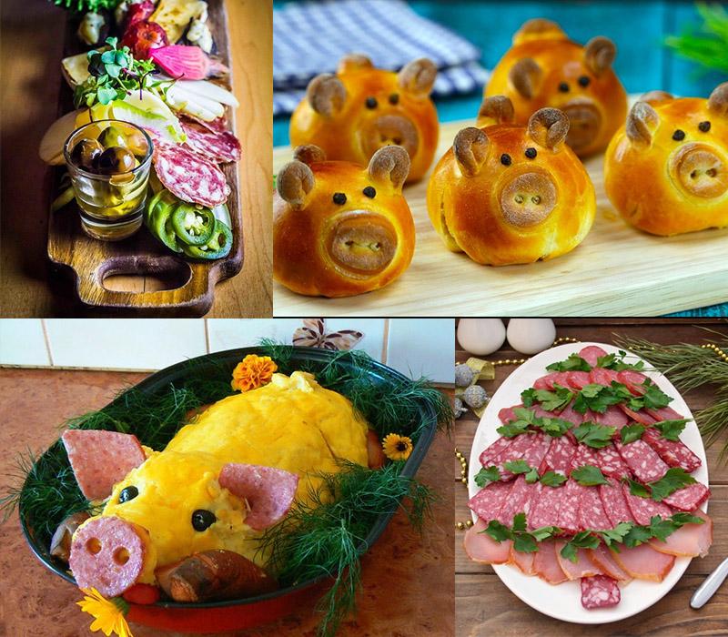 Украшение праздничных блюд на Новый год