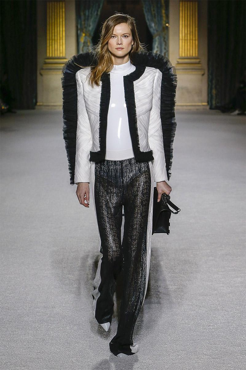 Черные брюки с белыми лампасами Balmain