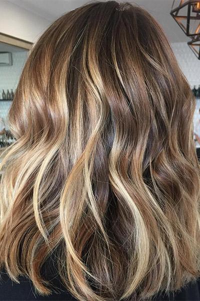 Мелирование волос средней длины