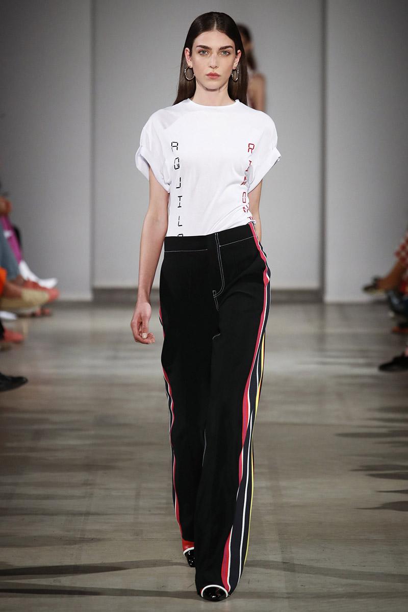 Модные цвета брюк и вариации лампасов Aquilano.Rimondi