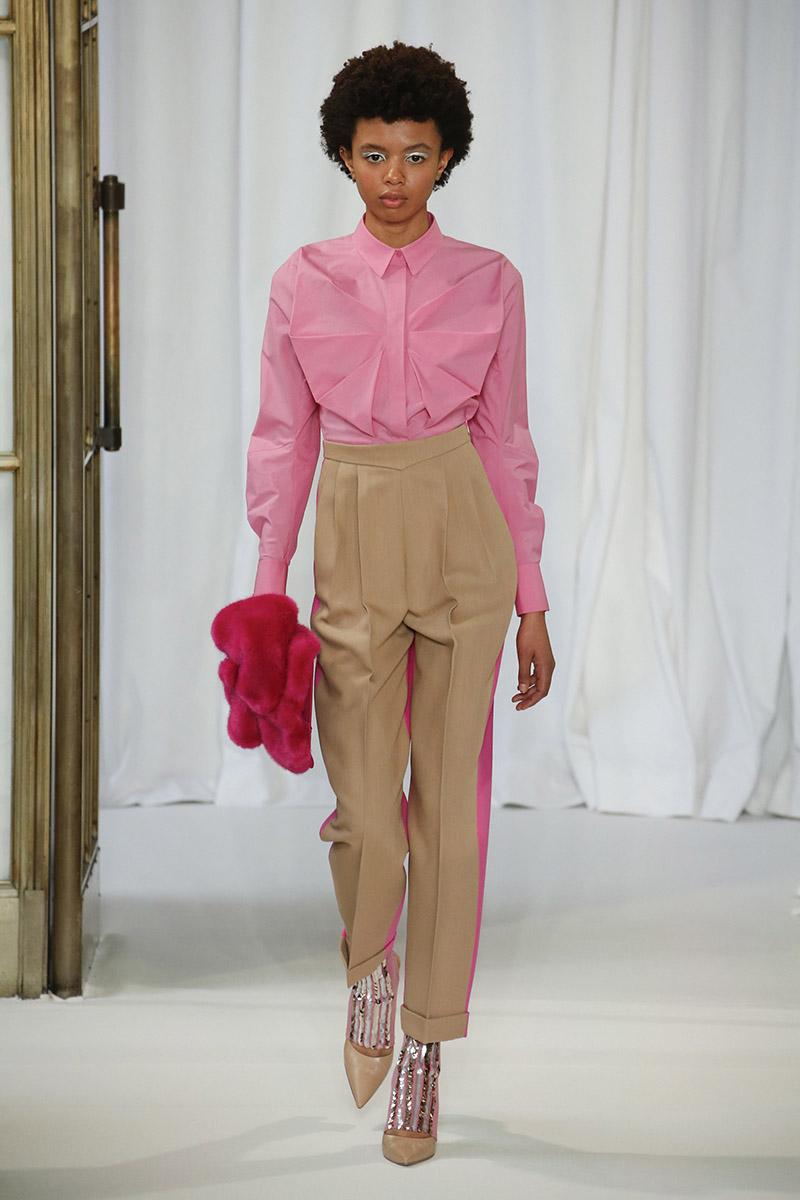 Прямые брюки с широкими лампасами Delpozo