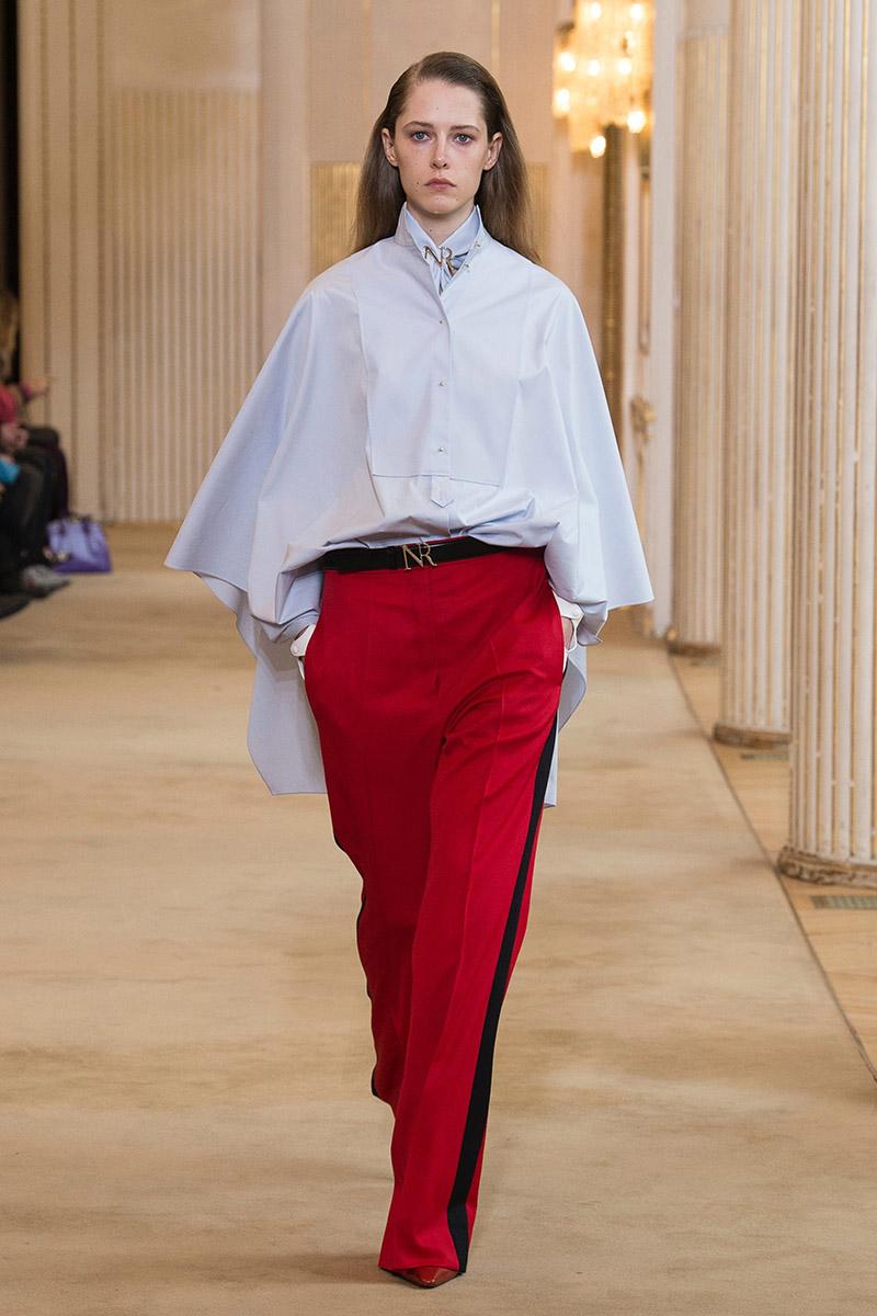 Прямые брюки с широкими лампасами Nina Ricci