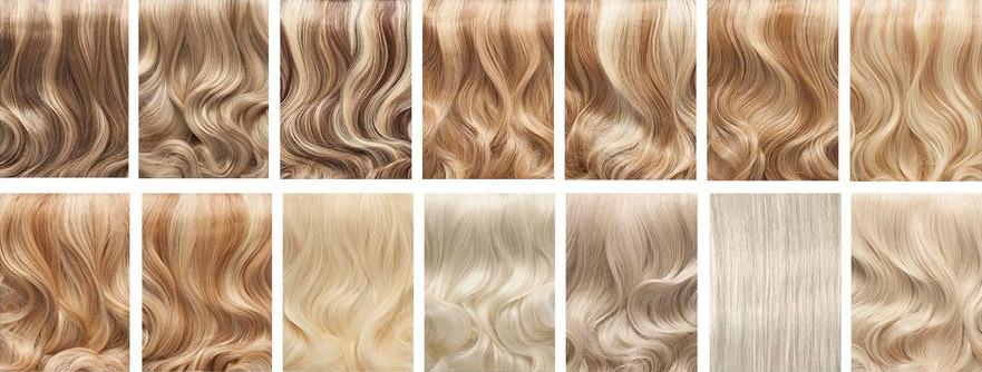 Выбор оттенка краски для мелирования русых волос