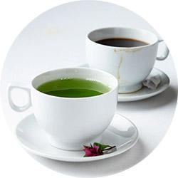 Зеленый чай и кофе