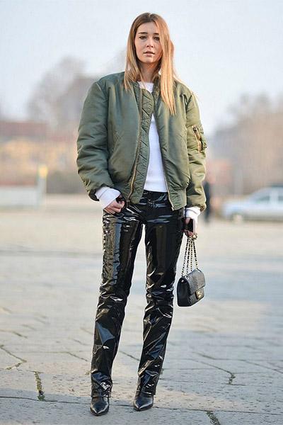 Бомбер и брюки дудочки