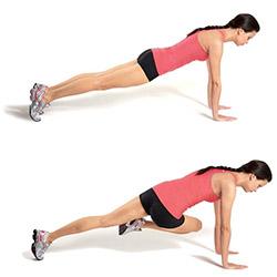 Подтягивание колен к груди