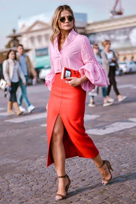 Юбка-карандаш с блузкой