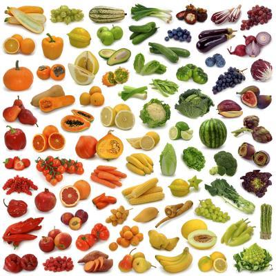 Таблица калорийности овощей и фруктов по убыванию, полный список