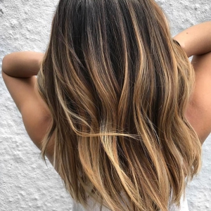 Мелирование на русые волосы