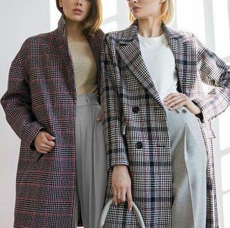 модные пальто в клетку осень-зима 2019-2020