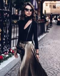 С чем носить плиссированную юбку: фото, трендовые образы